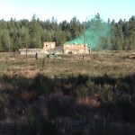 Smoke grenade set off in a compound at Fort Lewis, WA. Ex Worthy Sapper, Feb 2016.