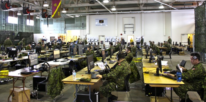 Ex Virtual Crewman employed VBS equipment to conduct a squadron-level zone reconnaisance in Vernon, 17-19 Feb 2017, Photo Cred OCdt M Pedersen