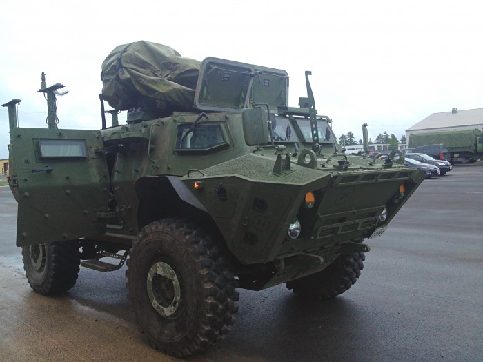 The TAPV is a wheeled combat vehicle that will conduct reconnaissance and surveillance, security, command and control, and armoured transport of personnel and equipment. The vehicle is highly mobile and provides a very high degree of protection for its crew.