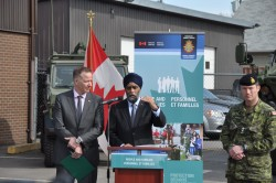 13 March 2018Kelowna, BCCanada's Minister of National Defence, Harjit Sajjan, speaks to reservists after officially announcing the launch of the Full-Time Summer Employment program at the BC Dragoon's Armoury in Kelowna, BC.Photographs by Sgt Malahay & Cpl Desmarais