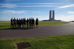 British Columbia Dragoons and Guests Visit Vimy Memorial. Photos by Sgt. M Peet