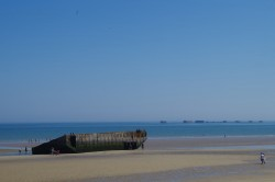 Remainder of a Floating Mulberry Harbour from the Normandy Landings left at Arromanches. Photos by Sgt. M Peet