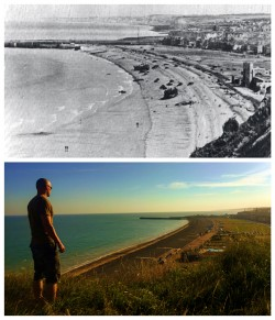 BCD's visited the high ground surrounding White Beach and Red Beach, used as part of the Dieppe Raid. Photos by Sgt. M Peet