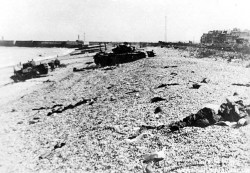 BCD's visited the high ground surrounding White Beach and Red Beach, used as part of the Dieppe Raid.