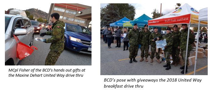 British Columbia Dragoons help United Way charitable campaign raise over $850,000